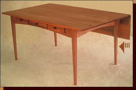 Desk with Drop-Leaf Front